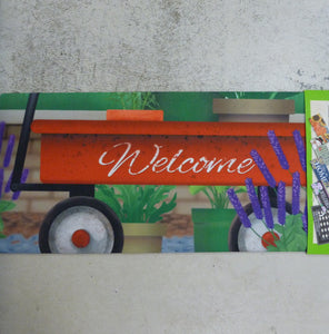 "Mat Sassafras Insert - Red Wagon ""Welcome"""