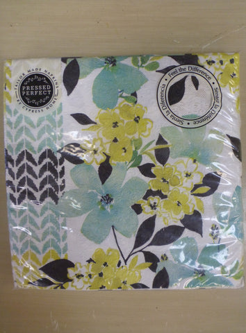 Napkins 20 Pack Large - Blue & Green Flowers