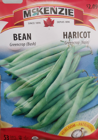 McKenzie Seeds Bean Greencrop Bush