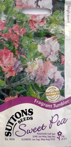 Suttons Seeds Sweet Pea - Fragrant Tumbler