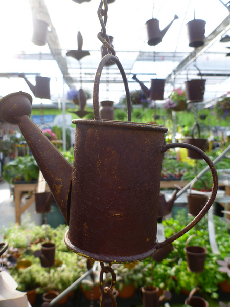 "Rain Chain 72"" Weathered Metal - Watering Can"