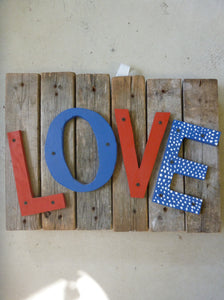 "Rustic Wooden Sign - ""Love"""