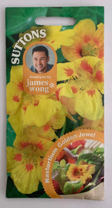 Suttons Seeds Nasturtium - Golden Jewel