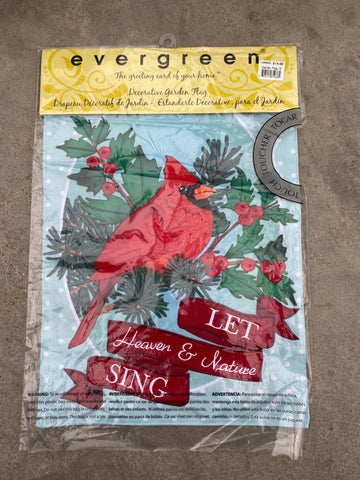 Christmas Garden Flag-Let Heaven and Nature Sing