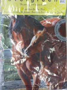 "Garden Flag 15"" - Two Brown Horses"