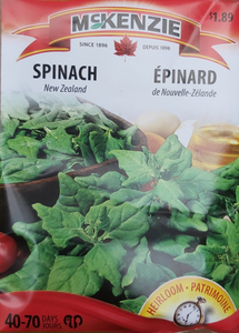 McKenzie Seeds Spinach New Zealand