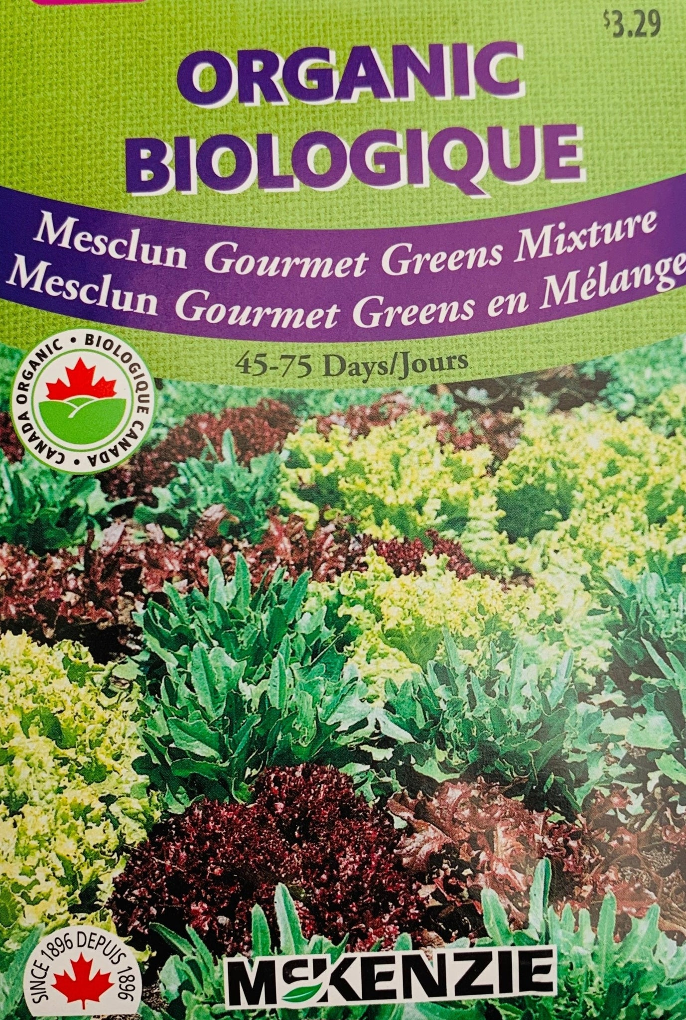McKenzie Organic Seeds - Mesclun Gourmet Greens Mixture