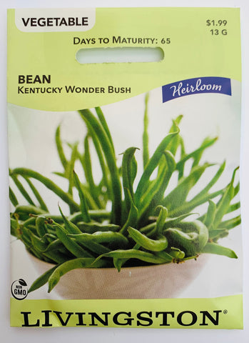 Livingston Seeds Bean - Kentucky Wonder Bush