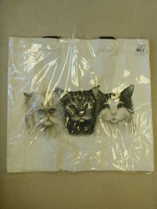 "Tote Bag Animal Print 15"" x 16"" - Three Cats"