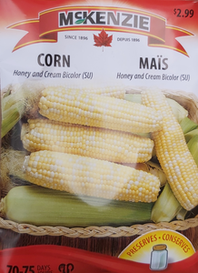 McKenzie Seeds Corn Honey and Cream Bicolor SU