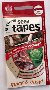Suttons Seed Tape Lettuce - Red and Green Cos Mix