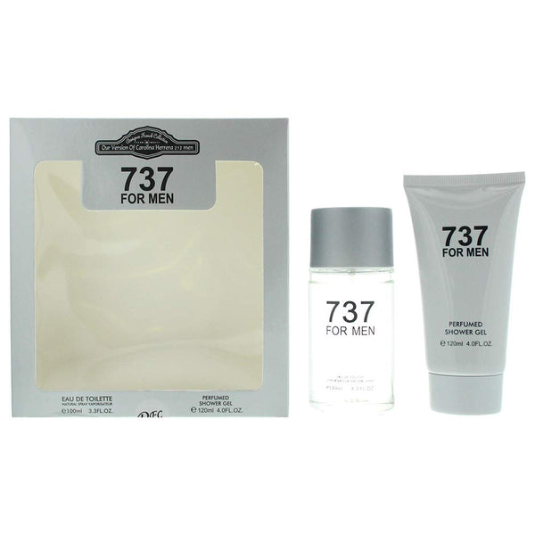 Designer French Collection 737 For Men Eau De Toilette 2 Pieces Gift Set