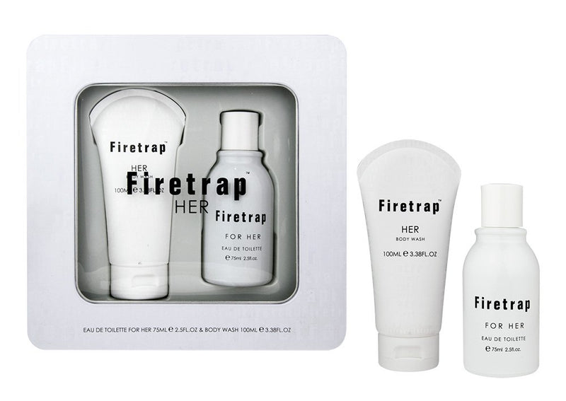 FIRETRAP 75ML Eau De Toilette, 100ML SHOWERGEL for HER -TIN Set