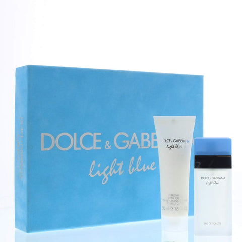 Dolce and Gabbana Light Blue Eau de Toilette and Body Cream Duo Gift Set, 25 ml/50 ml