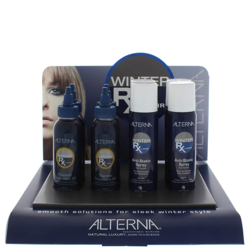 Alterna Winter Rx Display - Anti Static Spray 92Gm X 4 & Thermal