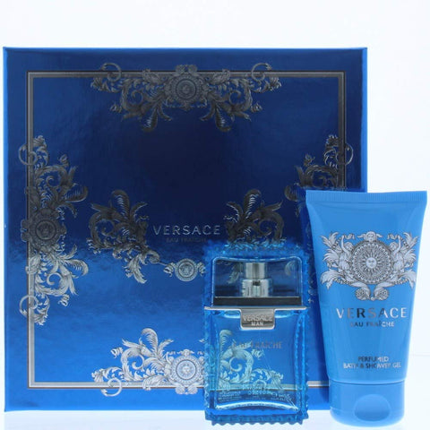 Versace Eau Fraiche Eau de Toilette, Bath & Shower Gel Gift Set For Him