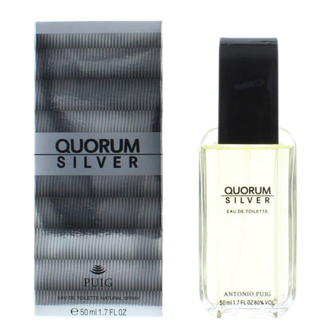 Antonio Puig Quorum Silver Eau de Toilette 50ml Spray