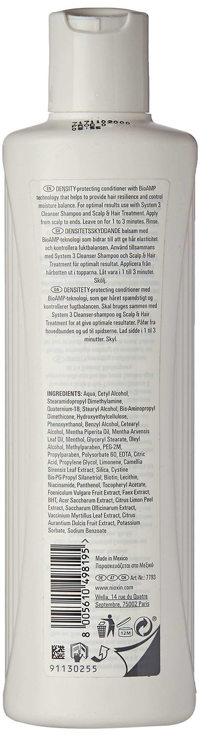 Nioxin System 3 Scalp Therapy Revitalizing Conditioner with Light Thinning 300ml