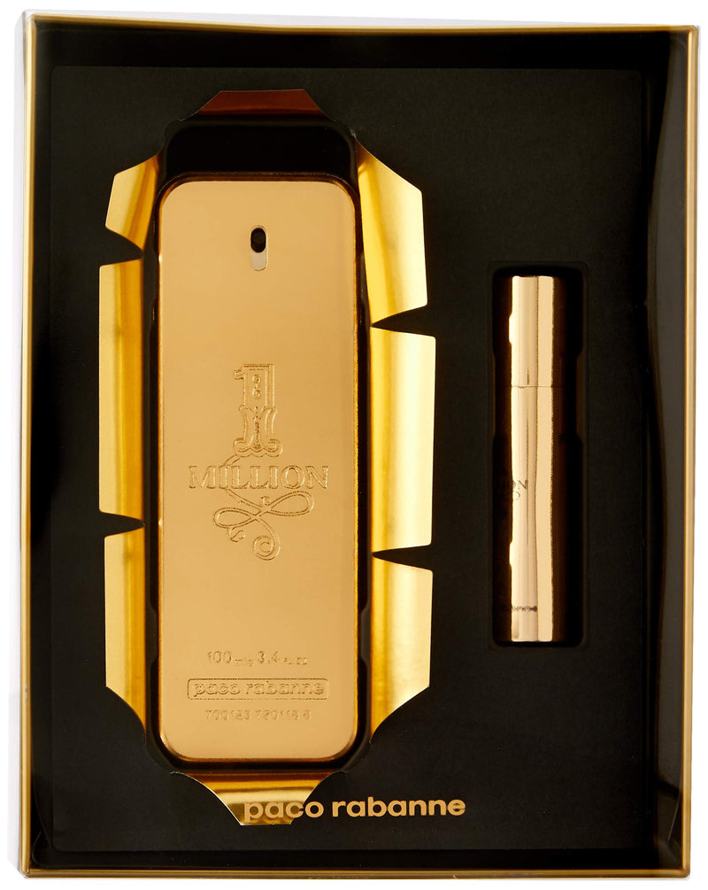 Paco Rabanne 1 Million Gift Set 100ml EDT + 10ml Travel Spray