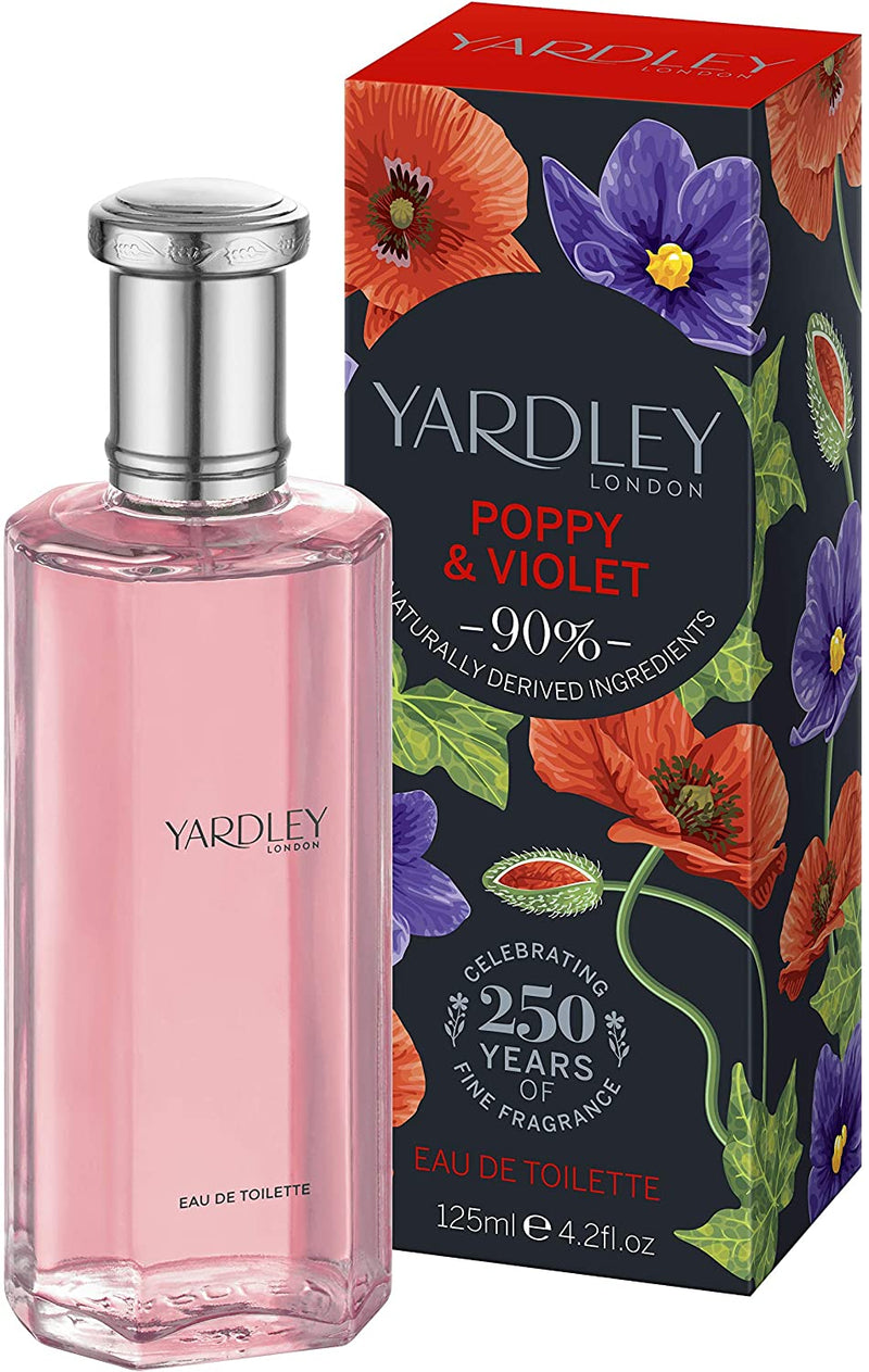 Yardley of London Poppy & Violet Eau de Toilette, 125ml
