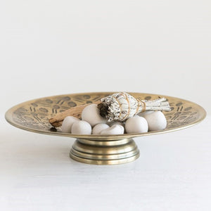 Antiqued Brass Footed Bowl