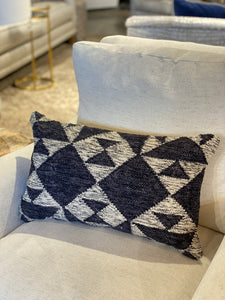 Charcoal and Ivory Geo Pillow