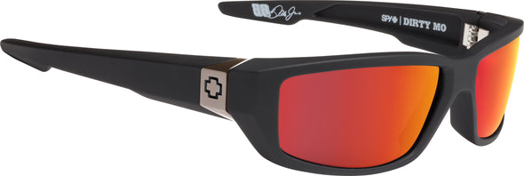 Dirty Mo Soft Matte Black - HD Plus Rose with Red Spectra Mirror