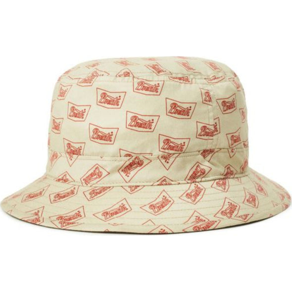 STITH BUCKET HAT - VANILLA/CARDINAL