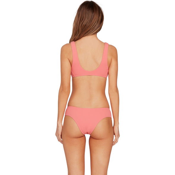 SIMPLY RIB CHEEKY BOTTOM - REEF PINK