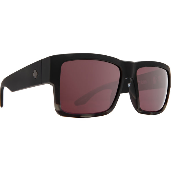 Cyrus Matte Black Smoke Tort Fade - HD Plus Rose with Silver Spectra Mirror