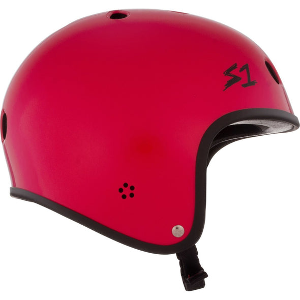 S1 Retro Lifer Helmet - Red Gloss w Checkers