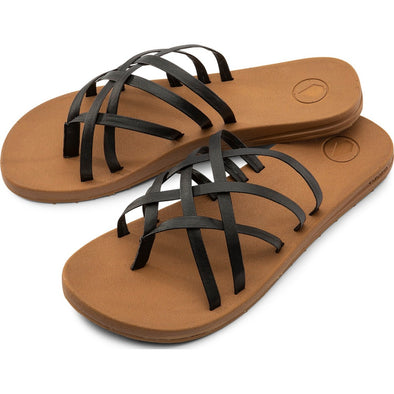 E-CLINER MULTI STRAP SANDALS - COGNAC