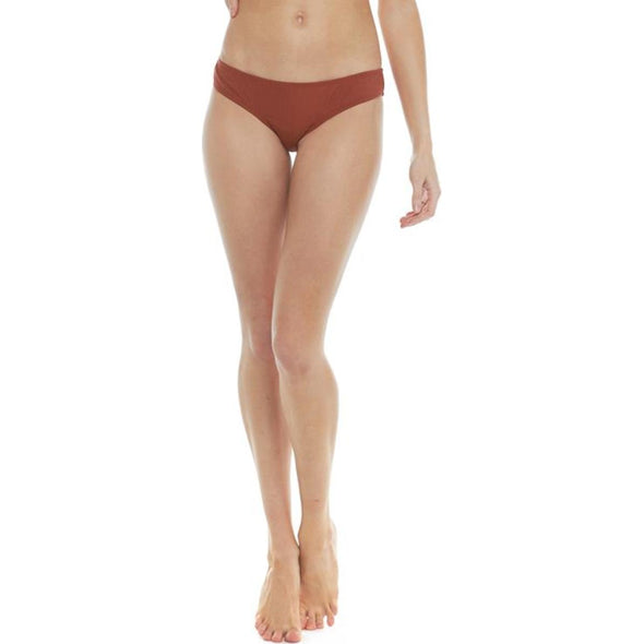 Mindful Eco-Conscious Eclipse Surf Rider Bikini Bottom - Spice