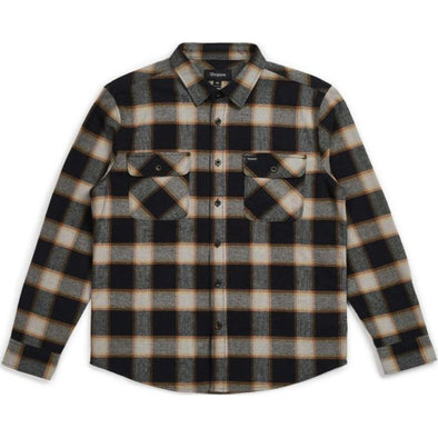 BOWERY L/S FLANNEL - BLACK/IVORY
