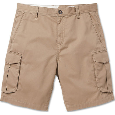 Bevel Cargo Shorts - Khaki