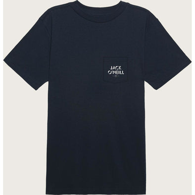 S/S SCREEN TEE ISLAND LIFE POCKET