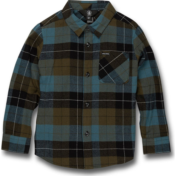 LITTLE BOYS CADEN PLAID L/S