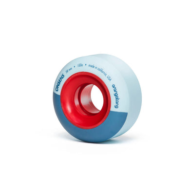 Onsens 58 mm 100a Freestyle Park  w/ Loaded Jehu V2 bearings (Blue, Set of 4)