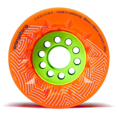 Caguama 85 mm 80a Downhill Cruising w/ Loaded Jehu V2 bearings (Orange, Set of 4)