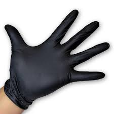 Gloves - Disposable - Black Nitrile - Powder FREE.