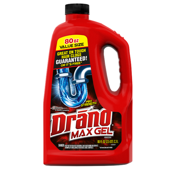 Drano Max Gel Professional Strength (1X80oz)
