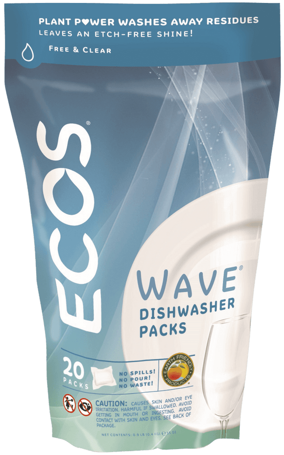 Ecos Wave Dishwasher Detergent Packs (20)