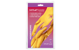 Gloves - Yellow - Rubber - Large - 12Pack.