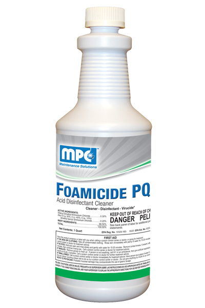Foamicide PQ Acid Disinfectant Cleaner.
