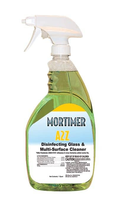 A2Z Disinfecting Glass & Multi-Surface Cleaner (Lemon)
