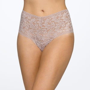 Hanky Panky Signature Lace Retro Thong Solid Colors