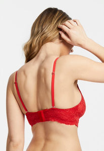 Montelle Cup Sized Non-Underwire Convertible Lace Bralette Basic Colours