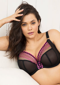 Elomi Matilda SS21 Kiss Hearts Plunge Non-Padded Underwire J-Hook Bra