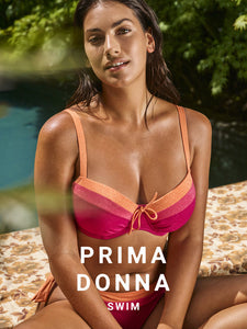 Prima Donna Swim SS21 Pink Sunset Tanger Balcony Moulded Underwire Bikini Top