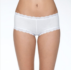 Hanky Panky Supima Cotton + Lace Boyshort